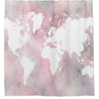Cortina De Ducha Mapa del mundo del diseño 66