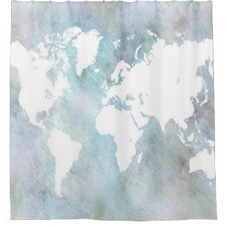 Cortina De Ducha Mapa del mundo del diseño 68