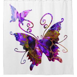 Cortina De Ducha Mariposas de la fantasía