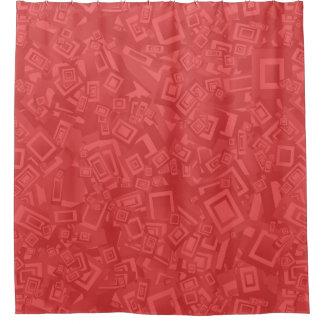 Cortina De Ducha Modelo rojo abstracto contemporáneo moderno