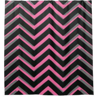 cortina de ducha negra rosada gris del modelo del
