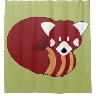 Cortina De Ducha Panda roja