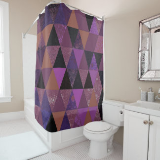 Cortina De Ducha Pasión abstracta de la púrpura #831