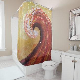 Cortina De Ducha Pintura abstracta de la bella arte de la onda de