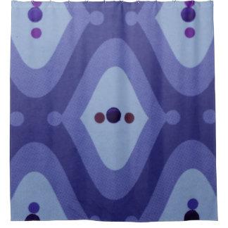 cortina de ducha púrpura del remolino