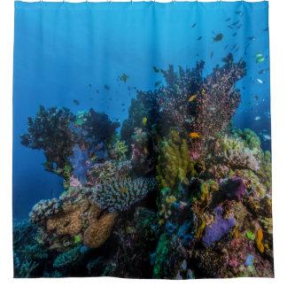 Cortina De Ducha Regalo tropical del mar de coral de la gran