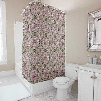 Cortina de ducha rosada de la mandala del edredón