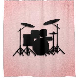 Cortina de ducha rosada determinada del diseño de