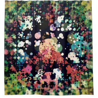 Cortina De Ducha Signo de la paz colorido de los círculos