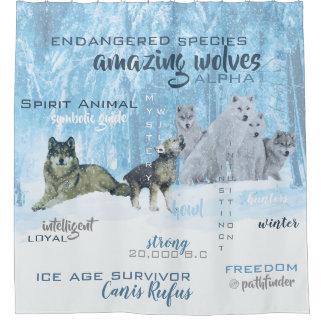 Cortina De Ducha Tipografía asombrosa el | de los lobos