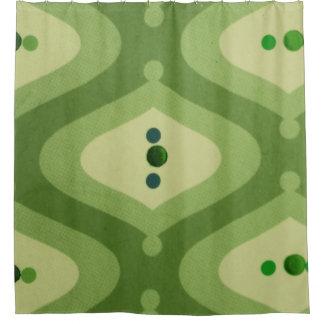 Cortina de ducha verde del remolino