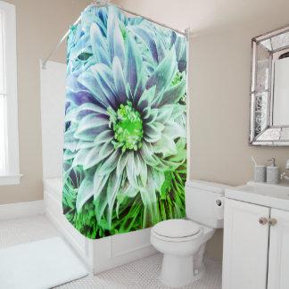 Cortina de ducha verde púrpura bonita de la