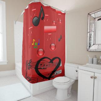 Cortina de la ducha del músico