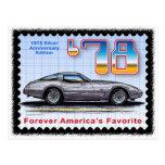 Corvette de plata de la edición especial del anive tarjetas postales