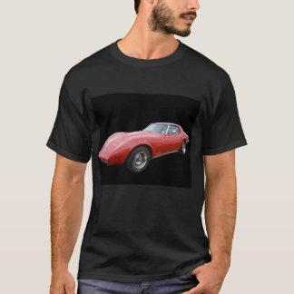 Corvette rojo - camiseta negra