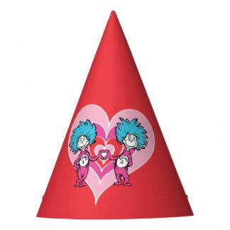 Cosa 2 de la cosa 1 del Dr. Seuss Valentine el   Gorro De Fiesta
