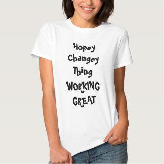Cosa de Hopey Changey Camisas