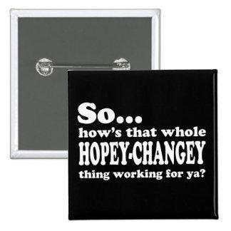Cosa de Hopey-Changey Chapa Cuadrada 5 Cm