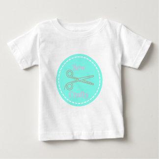 Cosa la aguamarina astuta del gris del rosa en camiseta de bebé