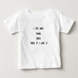 cosa tryany i una vez dos veces si tengo gusto de camiseta de bebé
