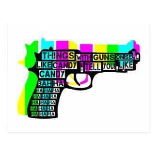 Cosas con los armas encendido postal