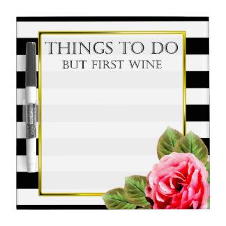 Cosas divertidas a hacer pero primer vino pizarra blanca