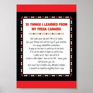 Cosas divertidas I aprendido de mi Presa Canario Poster