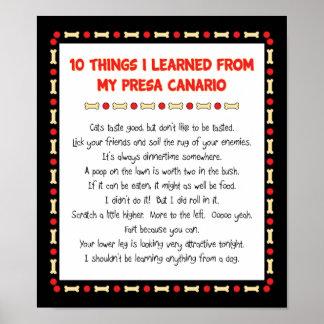 Cosas divertidas I aprendido de mi Presa Canario Impresiones