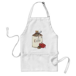 cosecha de la sidra de manzana y de la manzana delantal