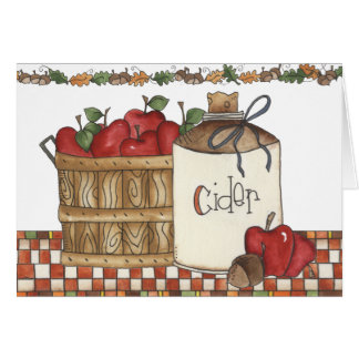 cosecha de la sidra de manzana y de la manzana tarjeta