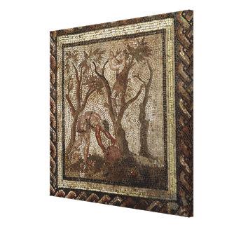 Cosechando las uvas, de Santo-Román-en-Galón Impresión En Lienzo