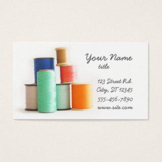 Cosiendo o adaptando tarjetas de visita