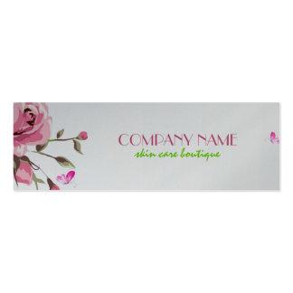 Cosmetología blanca rústica del fondo de los rosas tarjetas de visita mini