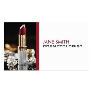 Cosmetología del Cosmetologist del artista de maqu Tarjeta Personal