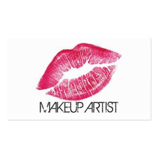 Cosmetología del Cosmetologist del artista de maqu Tarjetas De Visita