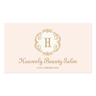 Cosmetología rosada linda 2 del salón de belleza tarjetas de visita
