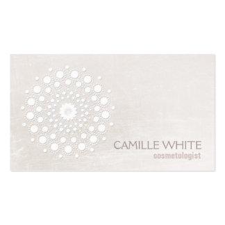 Cosmetologist blanco elegante elegante del blanco tarjetas de visita