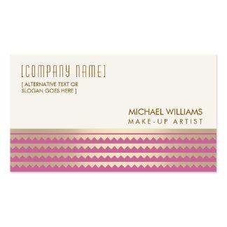 Cosmetologist Elegant Salon Light Pink Gold Golden Tarjetas De Visita