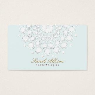 Cosmetologist elegante y simple azul claro tarjeta de visita