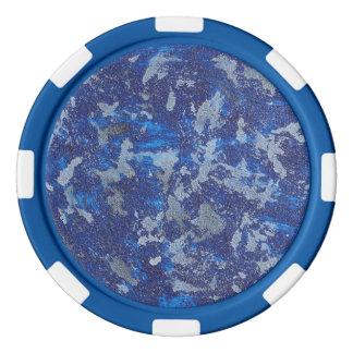 Cosmos azul #3 fichas de póquer