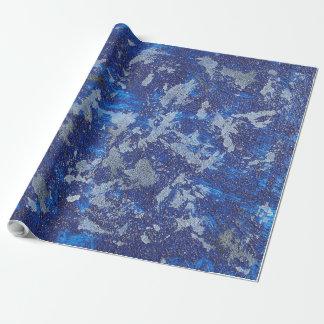 Cosmos azul #3 papel de regalo