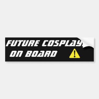 Cosplayer futuro a bordo pegatina para el pegatina para coche