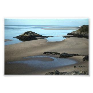 Costa costa de Borth Y Gest Foto