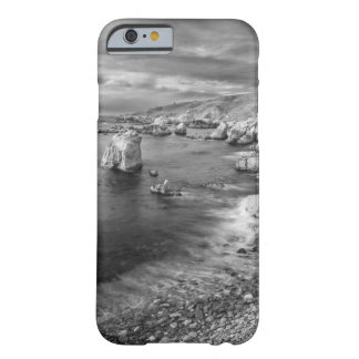 Costa costa de la playa de B&W, California Funda Barely There iPhone 6