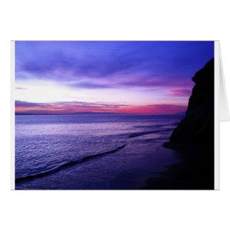 Costa costa de Santa Cruz Tarjeta De Felicitación