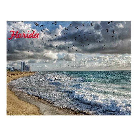 Costa costa del sur de la Florida de la postal de