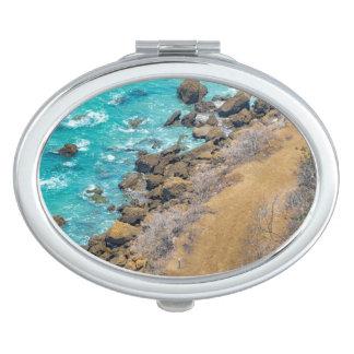 Costa costa Puerto López del Océano Pacífico de la Espejo De Maquillaje