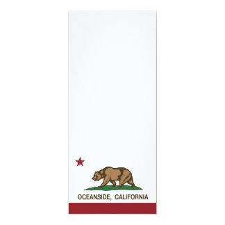 Costa de la bandera del estado de California Invitación 10,1 X 23,5 Cm