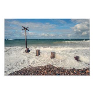 Costa de Mar del Norte del Moray Foto