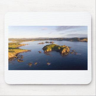 Costa idílica Nueva Zelanda de la bahía suave Alfombrilla De Ratón